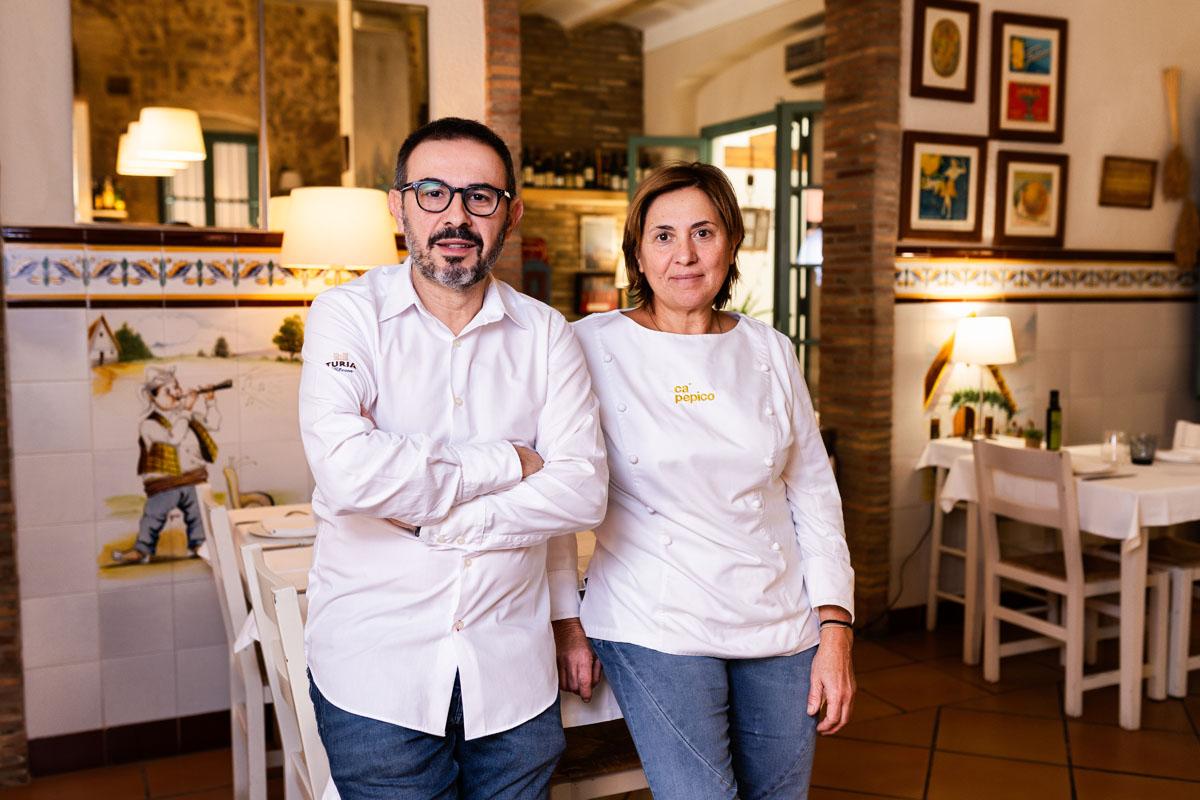 Restaurante Ca Pepico situado en ituada en medio de la huerta de Valencia.