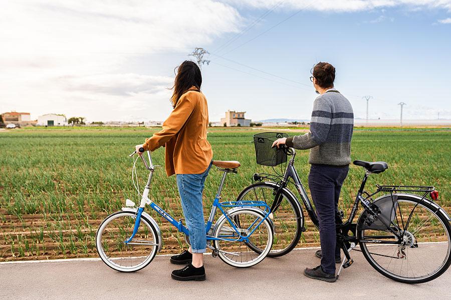 visitar la huerta de Valencia en bici